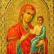 Madonna Enthroned Religious Art Poster