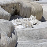 Mammoth Hot Springs Upper Terraces In Yellowstone National Park Poster