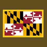 Maryland Flag Poster