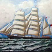 3 Master Tall Ship Poster
