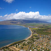 Maui Aerial Poster