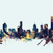 Melbourne Skyline Poster