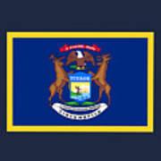 Michigan Flag Poster