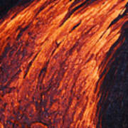 Molten Pahoehoe Lava Poster