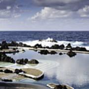 Natural Pools In Porto Moniz, Madeira Poster