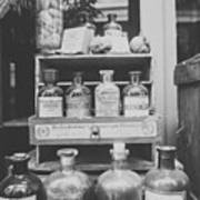 New Orleans Apothecary - Bw Haze Poster
