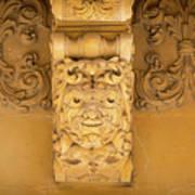Noto, Sicily, Italy - Detail Of Baroque Balcony, 1750 Poster