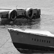 Old San Juan Puerto Rico Local Boats Poster