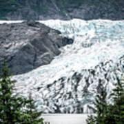 Panoramic View Of Mendenhall Glacier Juneau Alaska Poster