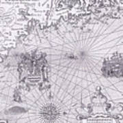 Part Of Captain J Smith's Map Of New England Poster