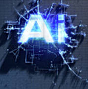 Pixel Artificial Intelligence Poster