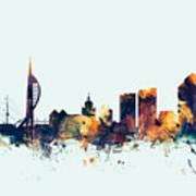 Portsmouth England Skyline Poster