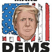 Reelect Trump For President Keep America Great Light Poster