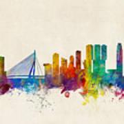 Rotterdam The Netherlands Skyline Poster