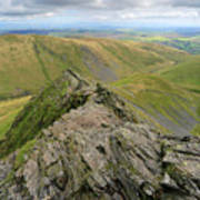 Sharpe Edge On Blencathra Fell, Lake District National Park Poster