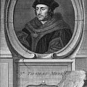 Sir Thomas More, English Statesman Poster