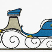 Sleigh, 19th Century Poster
