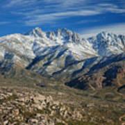 Snowy Four Peaks Arizona Poster