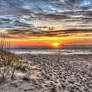 Sunrise Outer Banks Of North Carolina Seascape Poster