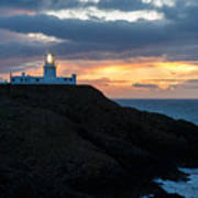Sunset At Strumble Head Lighthouse Poster