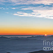 Sunset Over The La Silla Observatory Poster