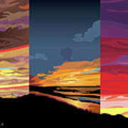 3 Sunsets Poster