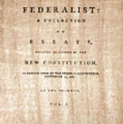 The Federalist, 1788 Poster