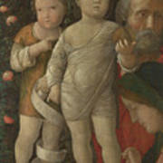 The Holy Family With Saint John Poster