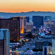 the Strip at night, Las Vegas Poster