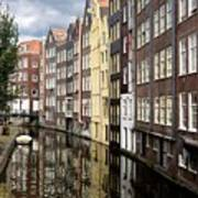 Traditional Canal Houses In Amsterdam. Netherlands. Europe Poster
