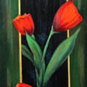 3 Tulips Poster