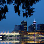 Vancouver Skyline Canada Poster