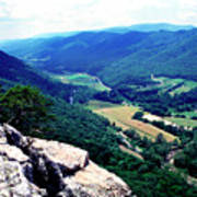 View From Atop Seneca Rocks Poster