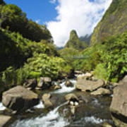 View Of Iao Needle Poster