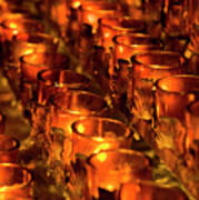 Votive Candles. Poster