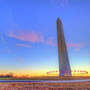 Washington Monument Sunset Poster
