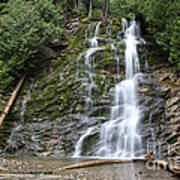 Waterfall, Quebec Poster