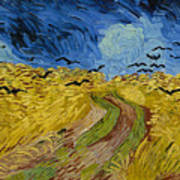 Wheat Field With Crows Poster