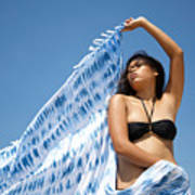 Woman In Sarong Poster