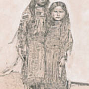 Young Comanche Girls Poster