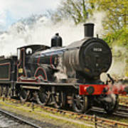 Steam Train At Rest. Poster