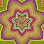 Psycho Hypno Floral Pattern Poster