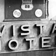 Route 66 Cars Cafes Restaurants Hotels Motels Poster