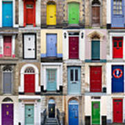 32 Front Doors Horizontal Collage  Poster by Richard Thomas