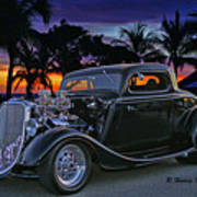 33 Ford On The Mexico Beach Poster