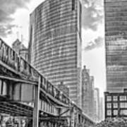 333 W Wacker Drive Black And White Poster