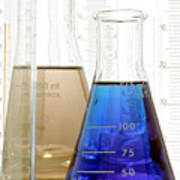 Laboratory Equipment In Science Research Lab Poster
