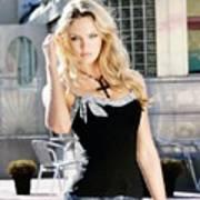 345337 Women Long Hair Lips Eyes Candice Swanepoel Poster