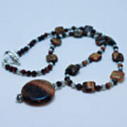 3516 Tiger Eye Necklace  Poster