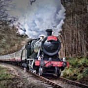 3802 Mince Pie Special On The Llangollen Line. Poster